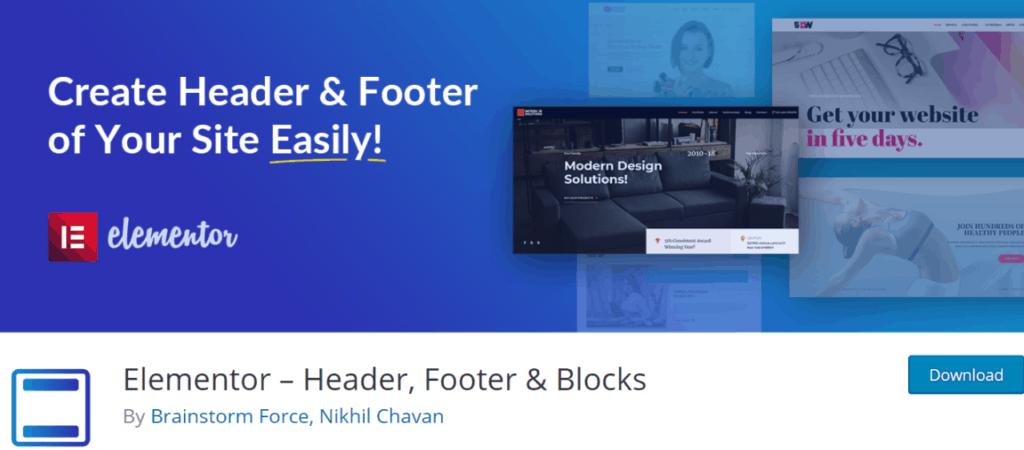 Elementor – Header, Footer & Blocks