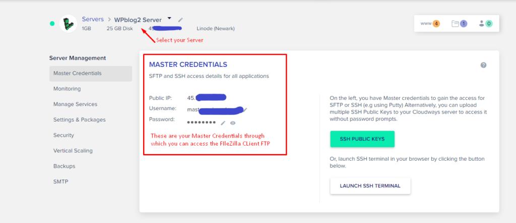 cloudways platform credentials