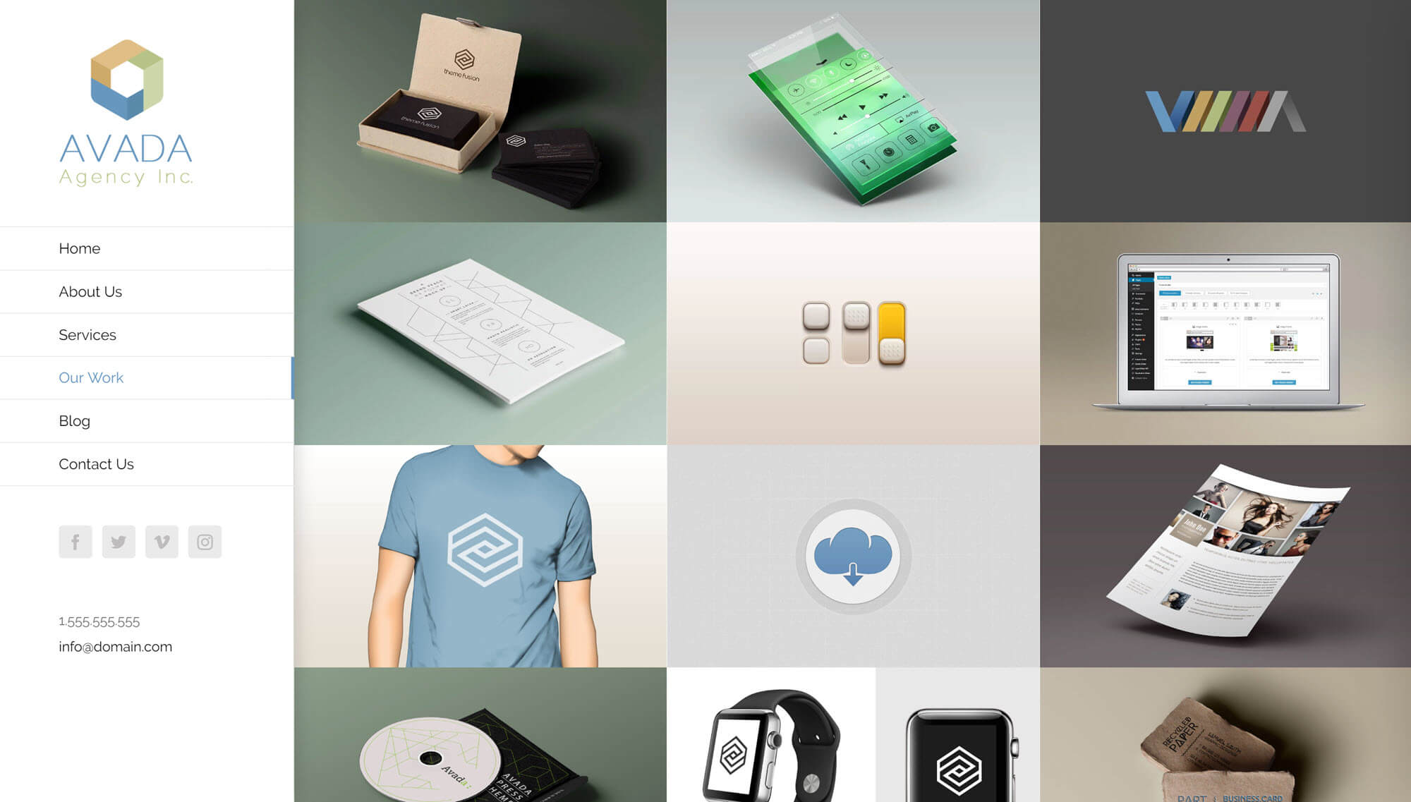 Avada Agency Website Demo