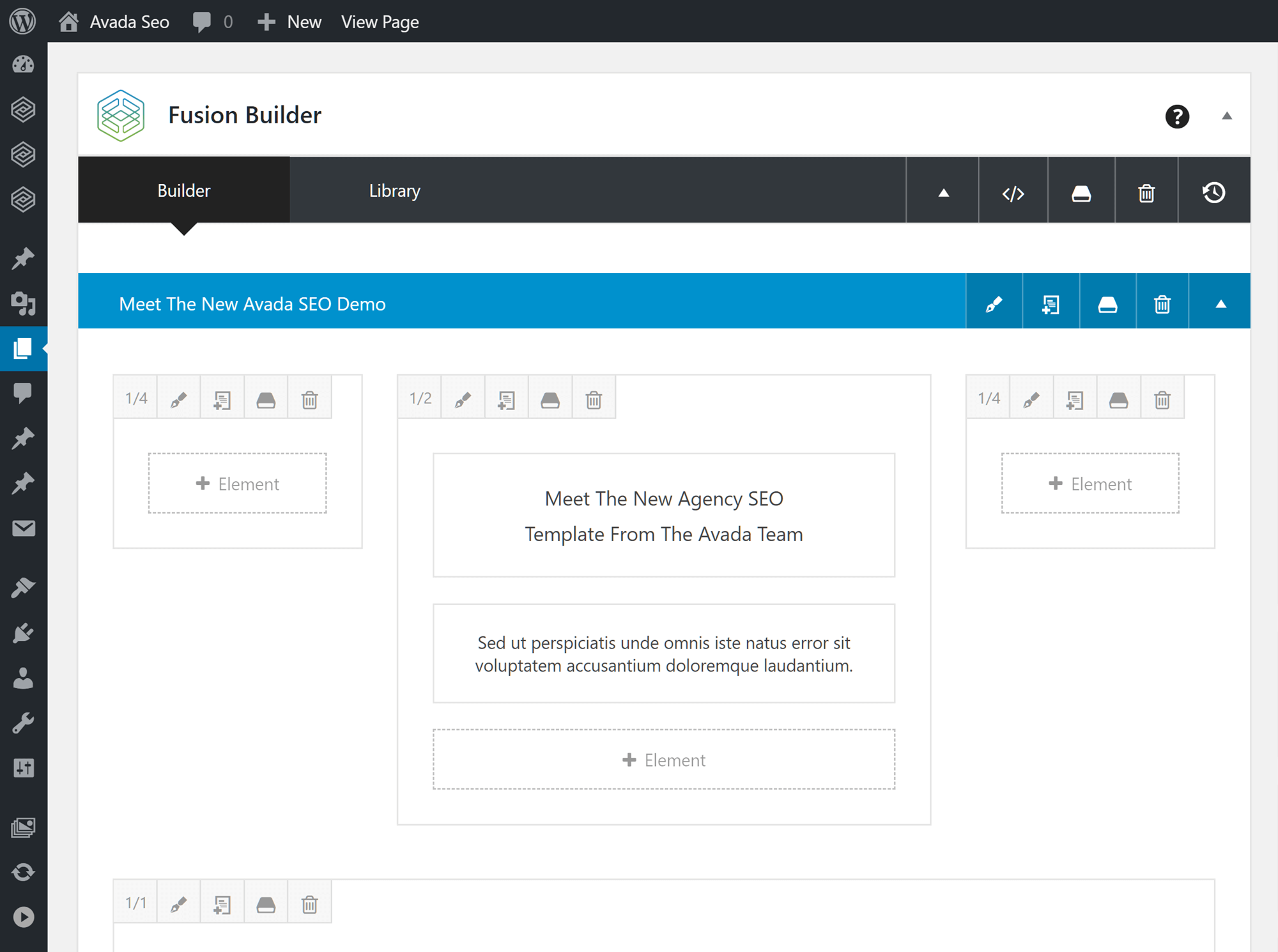 Fusion Builder User Interface
