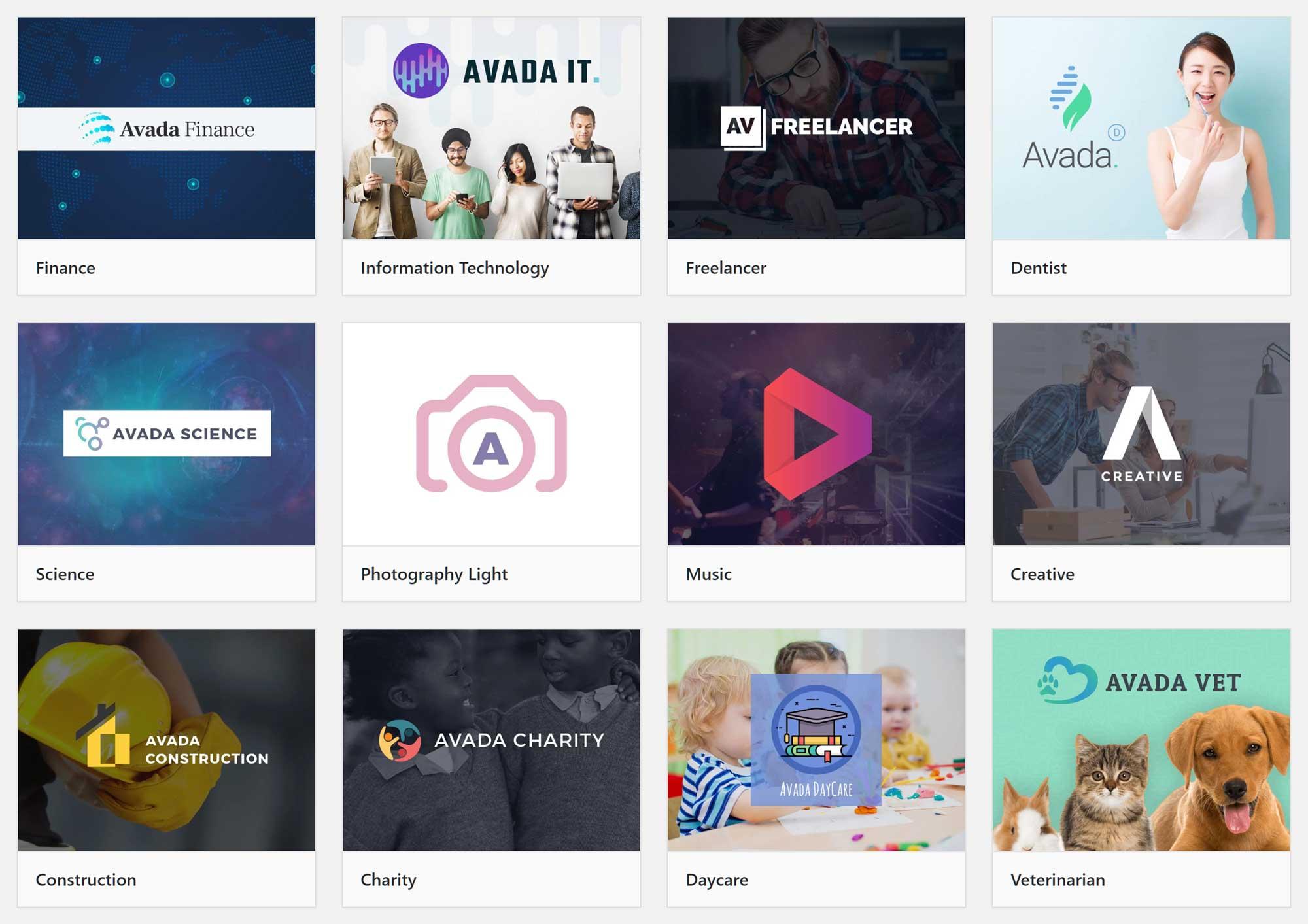 Avada Website Demos