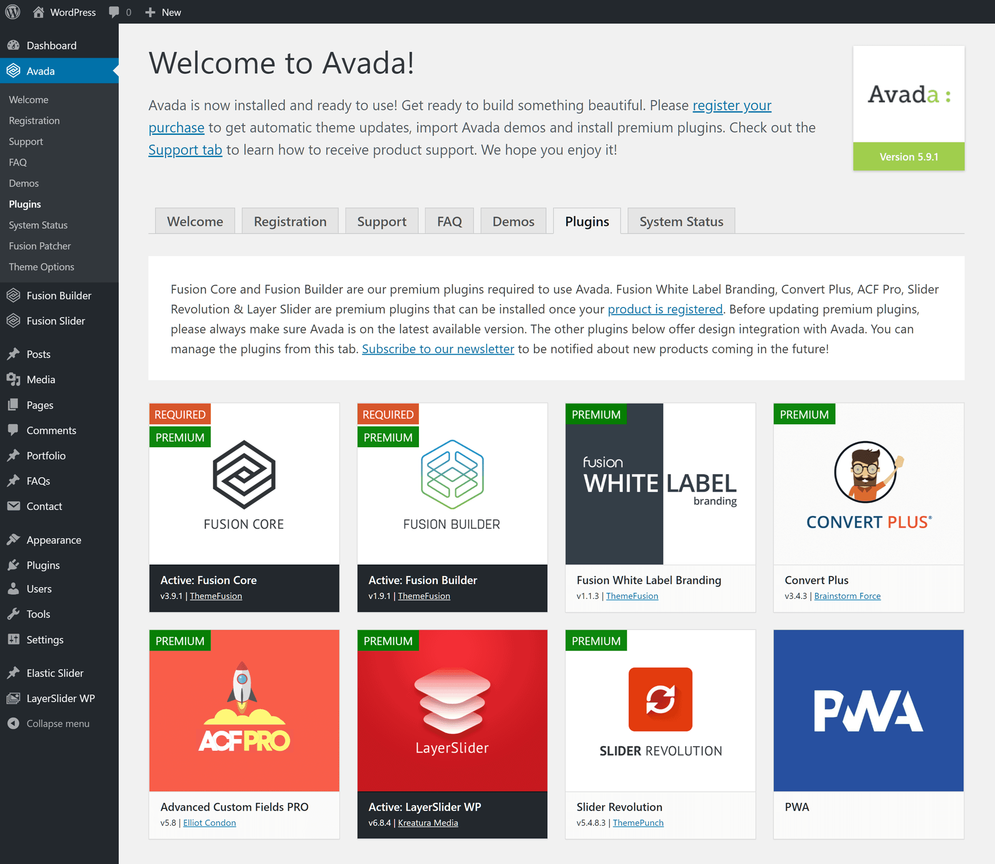 Avada WordPress Plugins