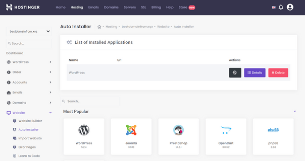 Bluehost vs Hostinger Auto Installer