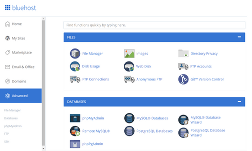Bluehost vs Hostinger cPanel