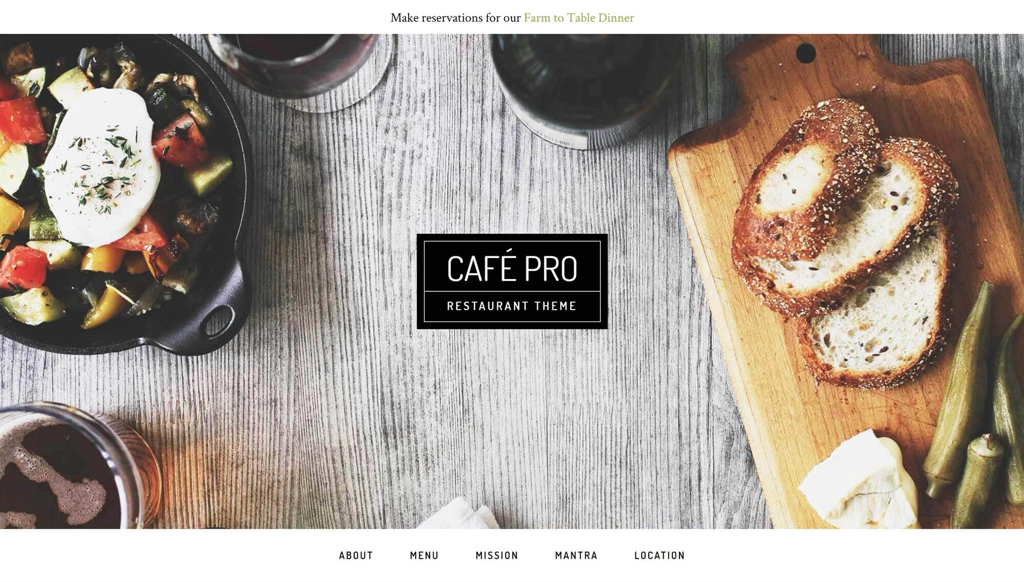 Café Pro WordPress Theme
