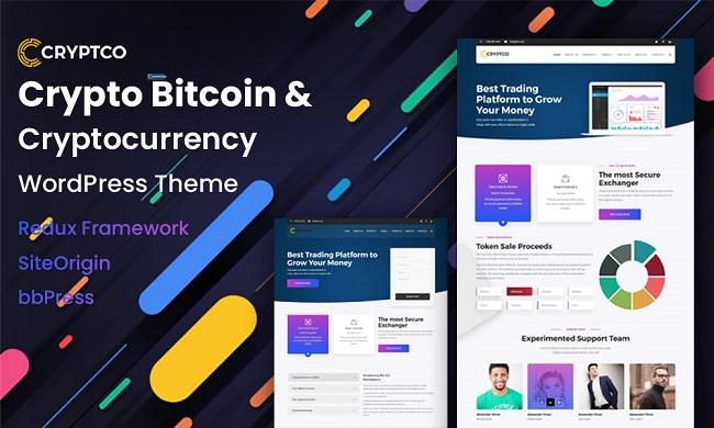 Cryptocurrency wp theme, Bitcoin WP Theme