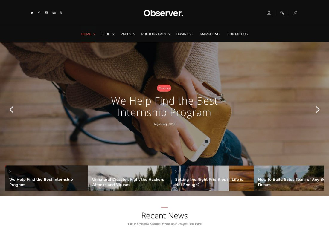 Daily Observer | A Modern Magazine, Review & News Portal WordPress Theme