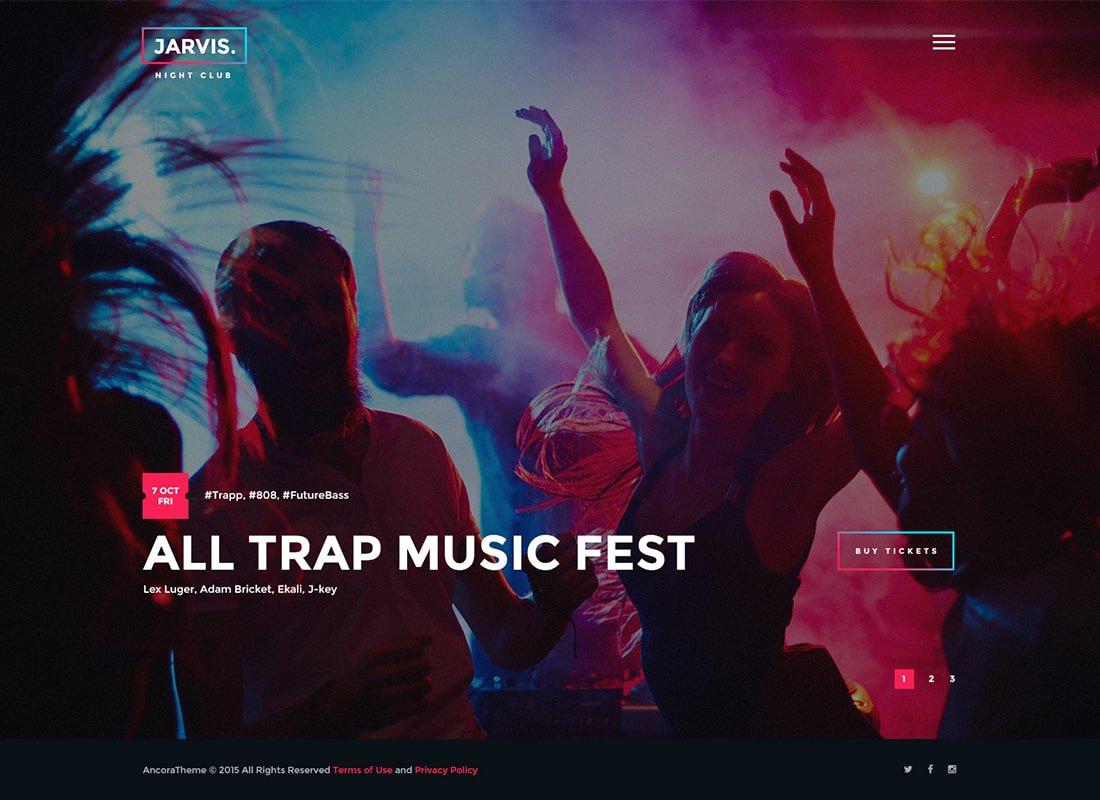 themes o plantillas wordpress para crear página web eventos y fiestas