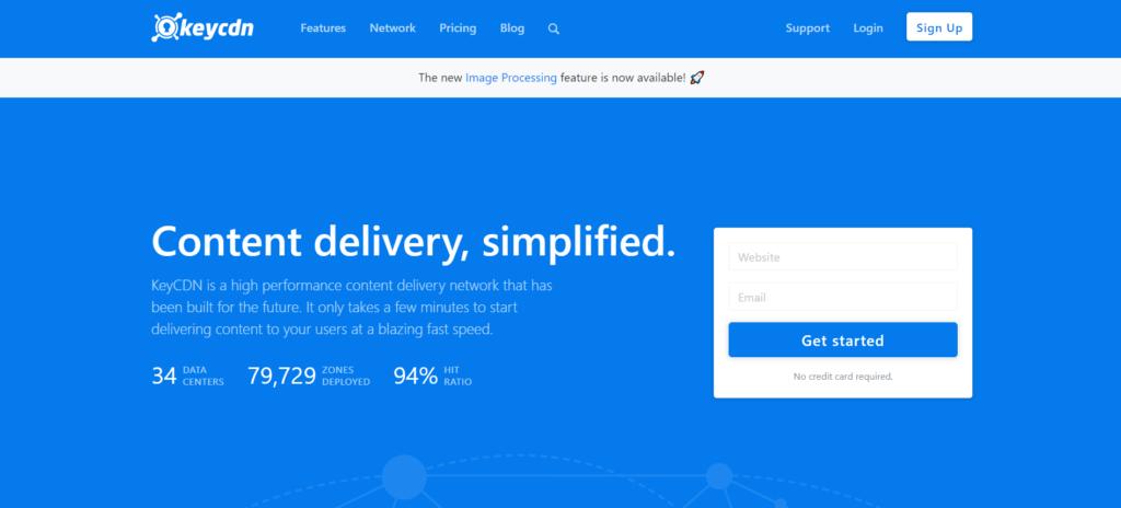 KeyCDN is among the best CDN for WordPress