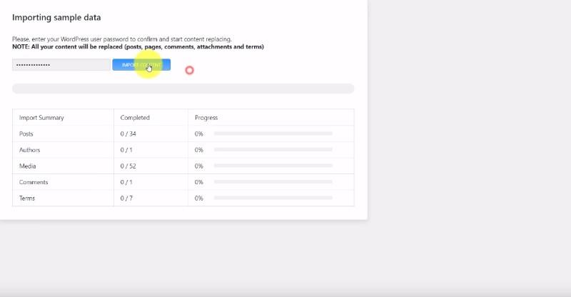 Monstroid2 demo data importation procedure