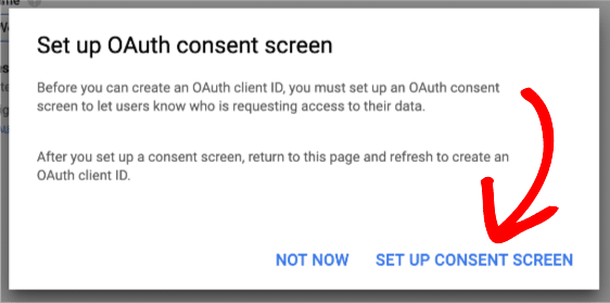 oauth screen