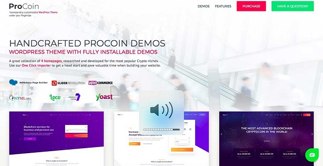 Cryptocurrency wp theme, Bitcoin WP Theme