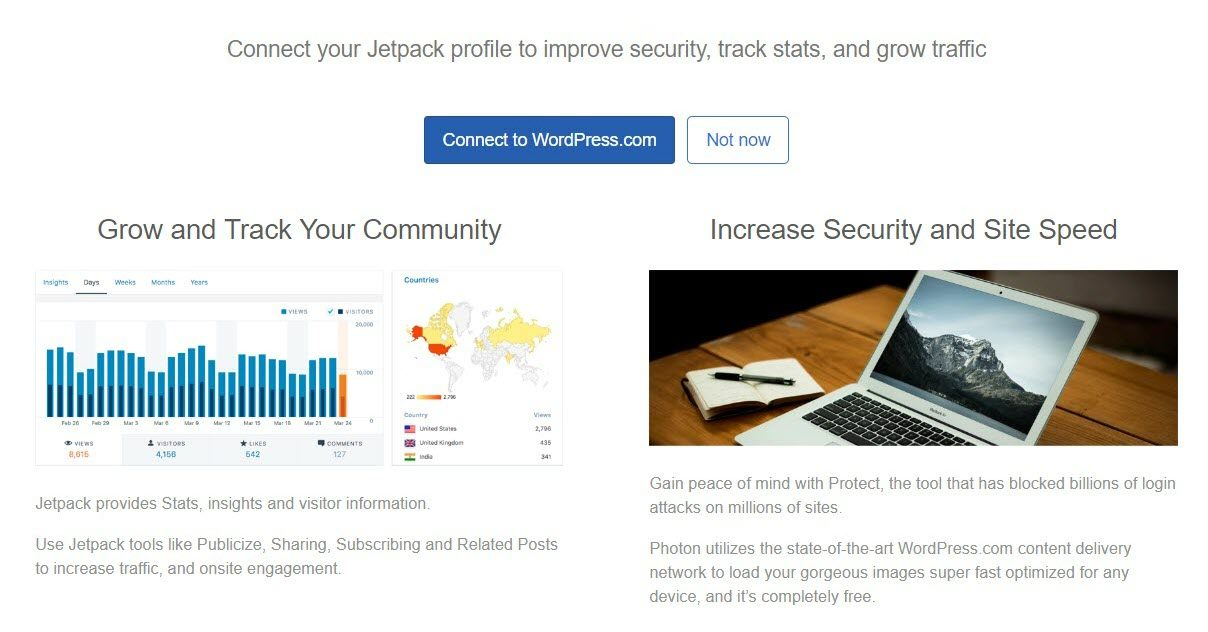 Bluehost QUick Launch Wizard displays after you install WordPress