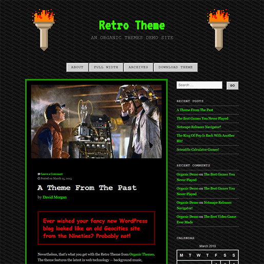 Retro WordPress Theme - 90's retro