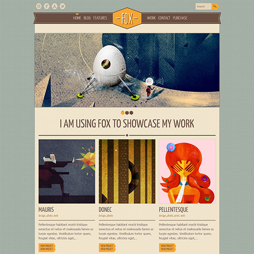 Retro WordPress Theme - Fox