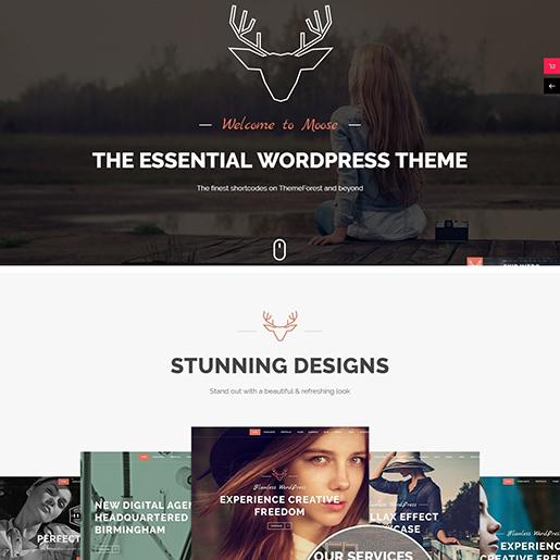 Retro WordPress Theme- Moose