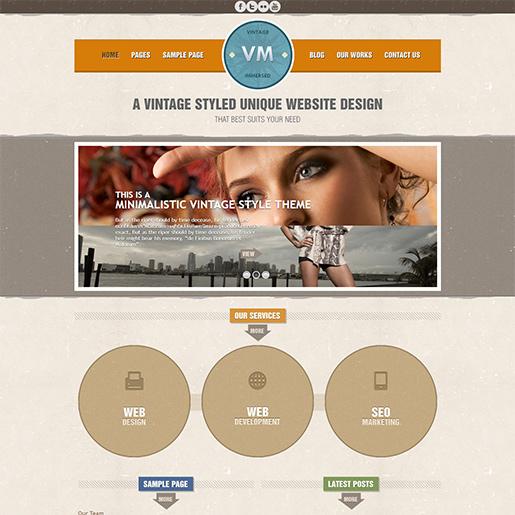 Retro WordPress Theme - Vintage immersed