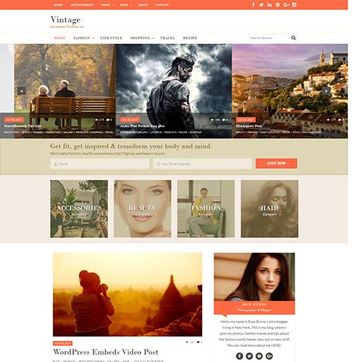 Retro WordPress Theme - Vintage