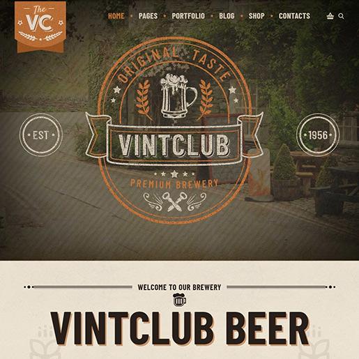 Retro WordPress Theme - Vintclub