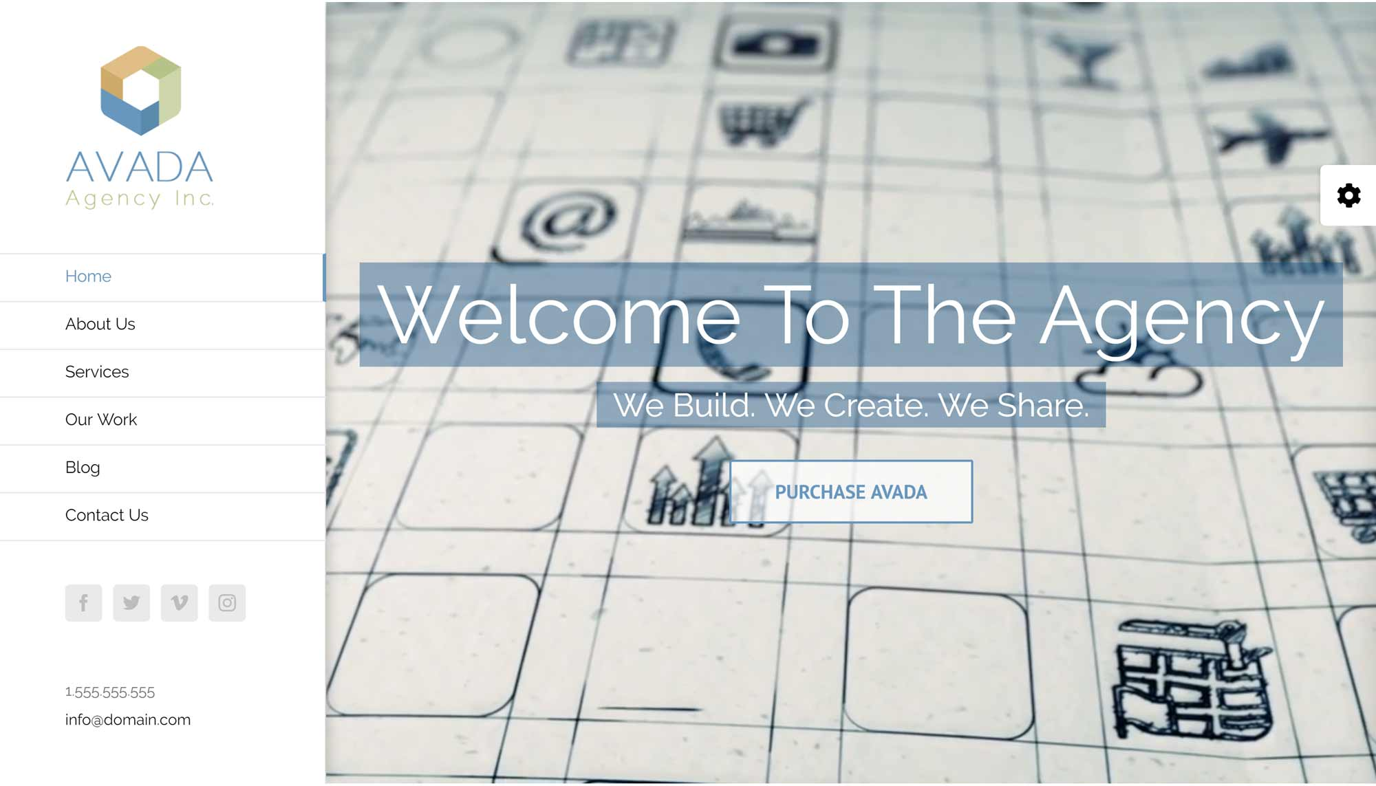 Avada WordPress Theme Agency Demo