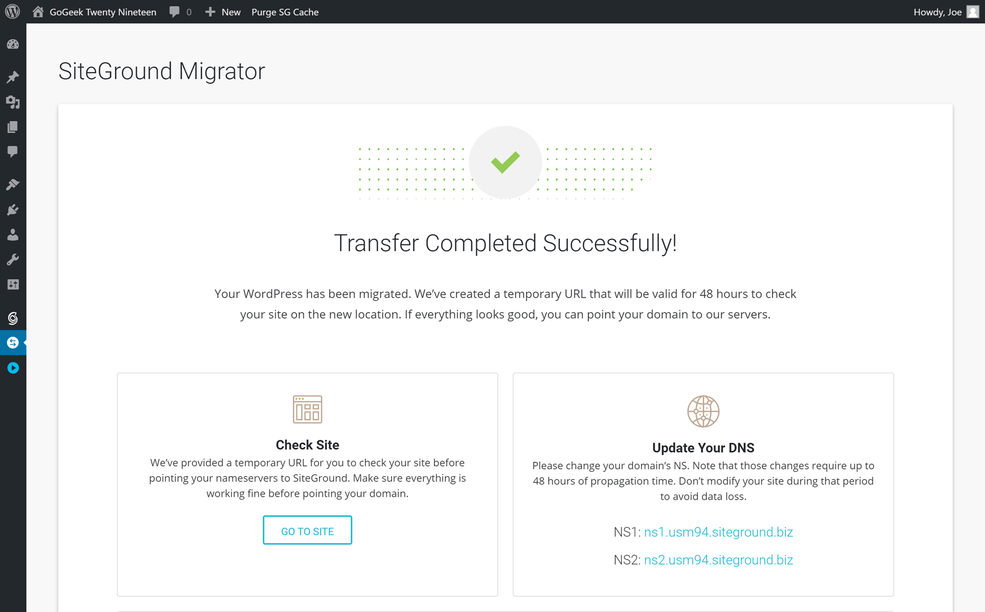 Website Migration Tool