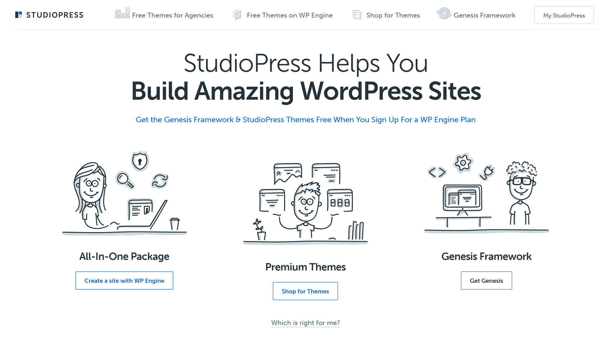 StudioPress WordPress Themes Website