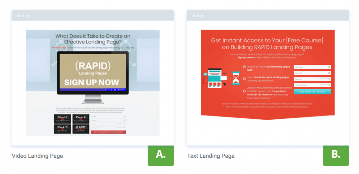 Thrive Optimize A/B Testing