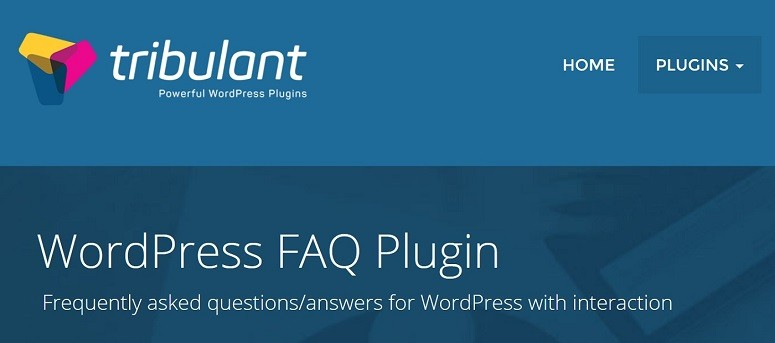 FAQ plugins, Tribulant FAQs plugin