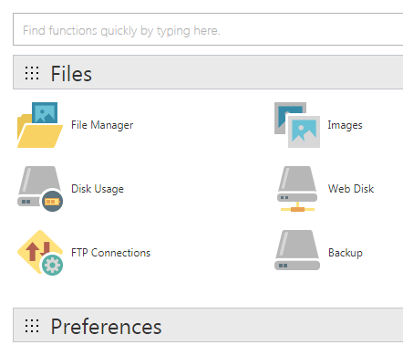 WordPress cPanel File Manager