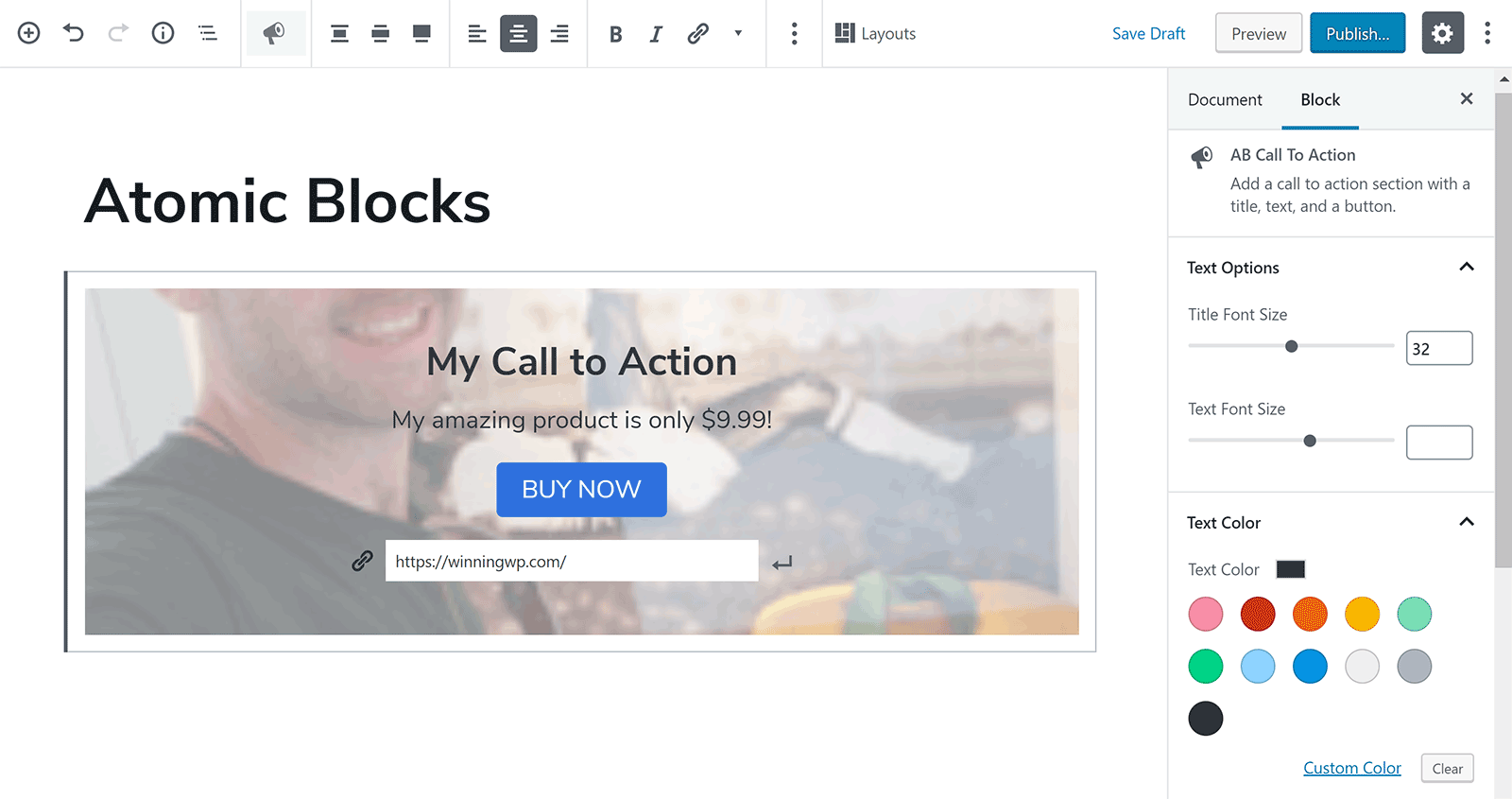 Call to Action Block