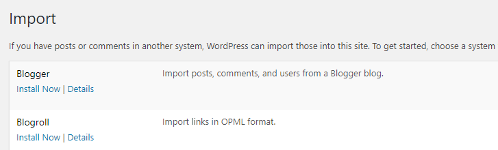 Use the Blogger importer to migrate to wordpress