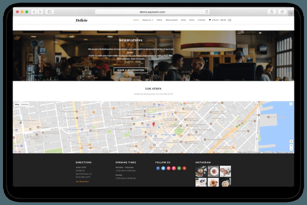 Complete restaurant website.