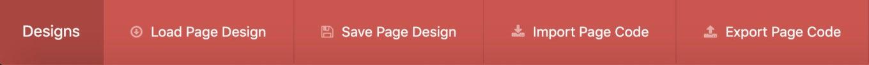 Les designs sur Live Composer