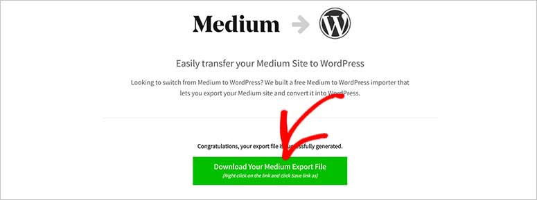 Download Medium to WordPress file