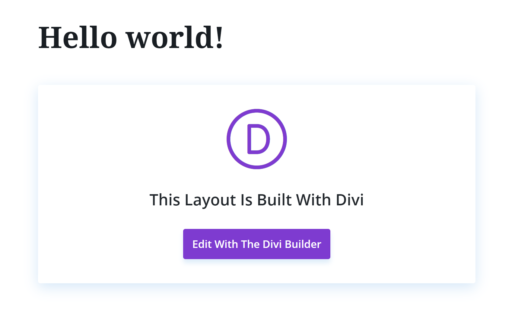 Edit with Divi Builder