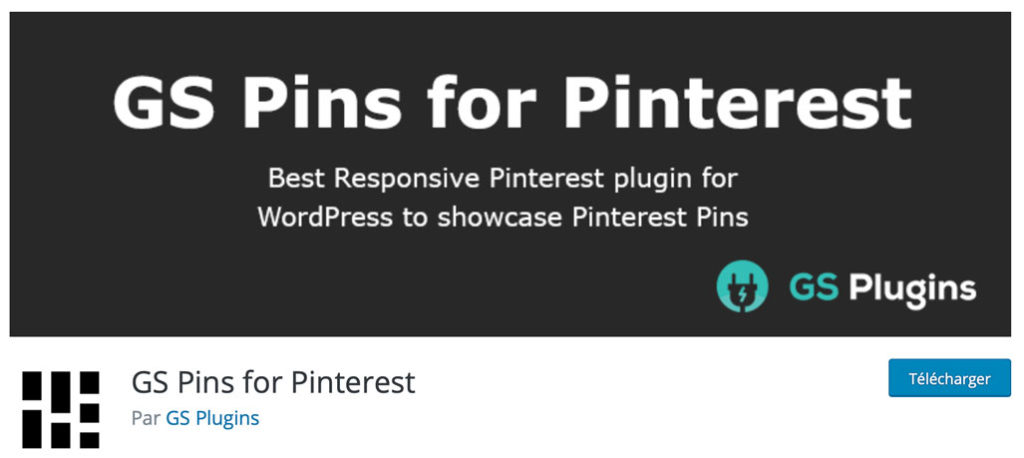 L'extension GS Pins for Pinterest