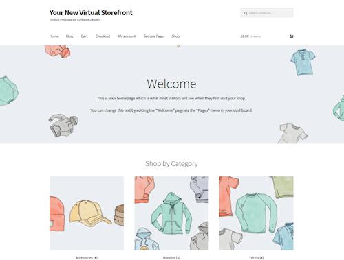 Homepage WooCommerce