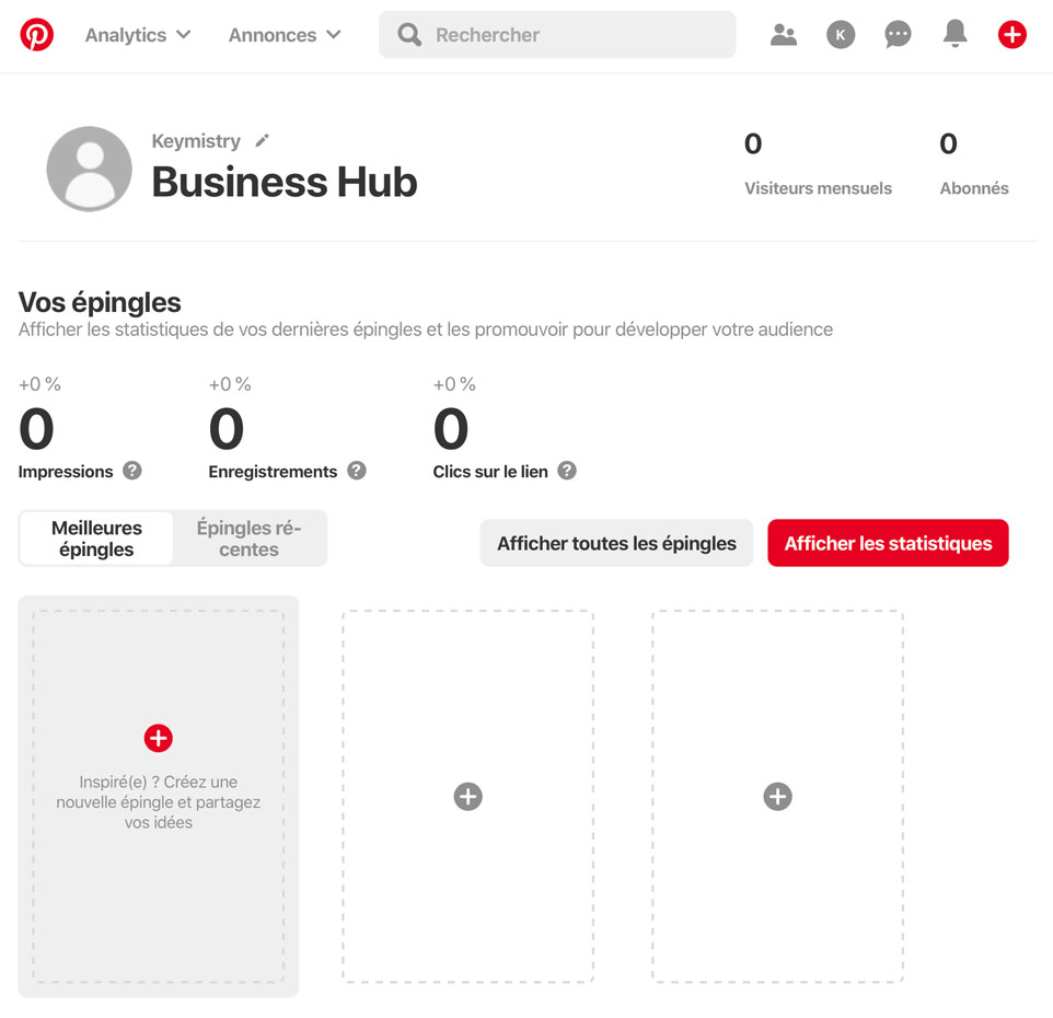 Business Hub Pinterest