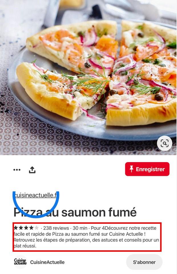 Recette de pizza avec rich pins